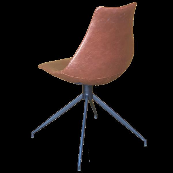 Arkan Splay Leg Side Chair (Brown Faux)