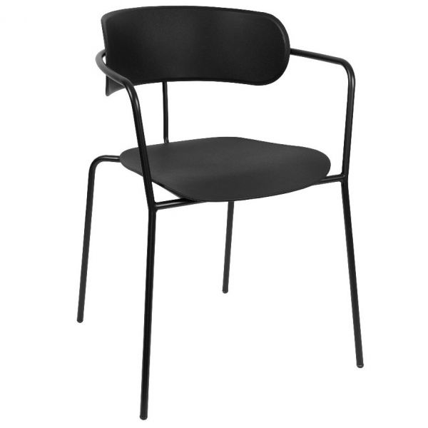 Barbican Stacking Open Arm Carver Chair (Black)