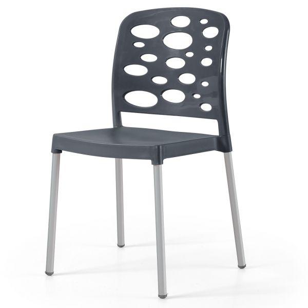 Bubble Aluminium Side Chair