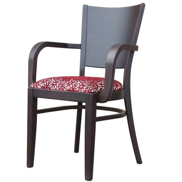 Atlantic Solid Back Open Arm Stacking Carver Chair
