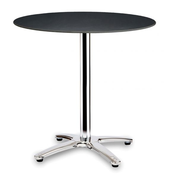 Compact Laminate Round Table Top - 700mm Diameter (Anthracite)