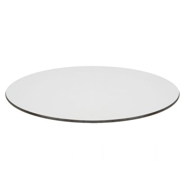 Compact Laminate Round Table Top - 600mm Diameter (White)