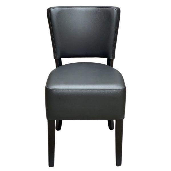 Memphis Standard Side Chair  (Black / Walnut)