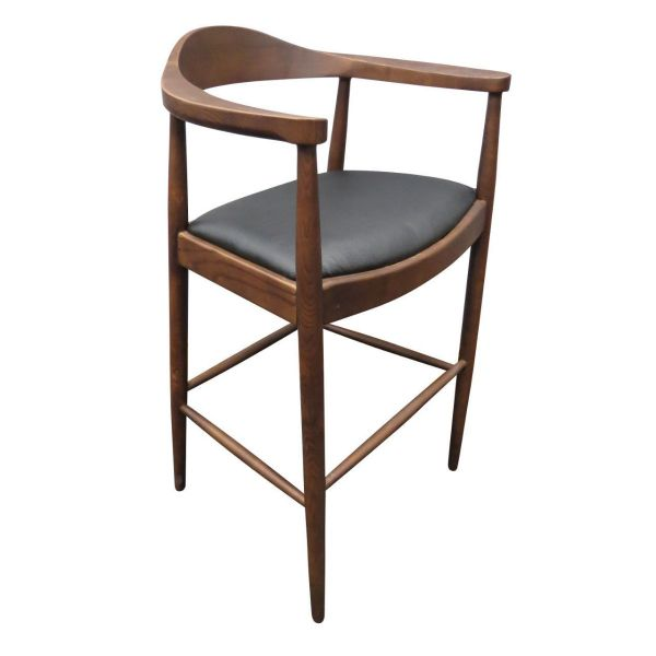 Flight High Chair (Black Faux / Walnut)