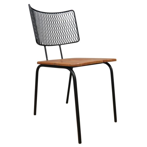 Industrial Gridback Side Chair