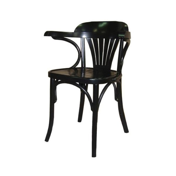 Bentwood Fan Back Open Arm Carver Chair