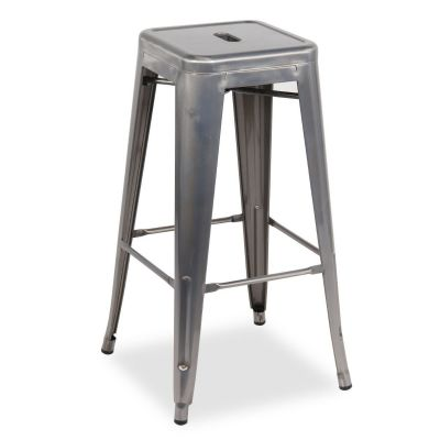 French Bistro Mid Height Stool (Clear Lacquer)