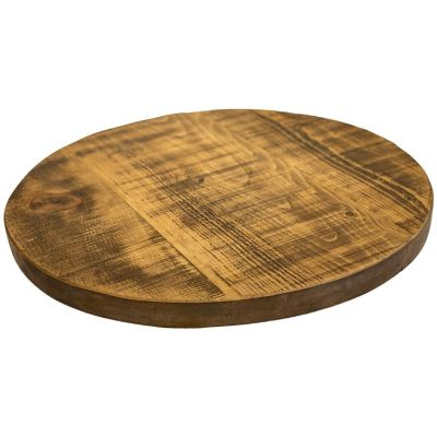 Round Rustic Reclaimed Table Top 35mm
