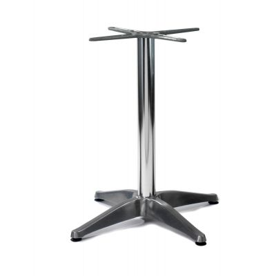 Aluminium 4 Star Dining Height Table Base (Silver)
