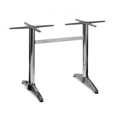 Aluminium Refectory Dining Height Table Base (Silver)