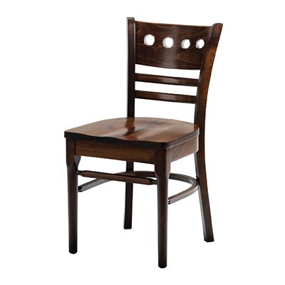 Baltimore Solid Seat Round Hole Side Chair