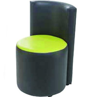Barrel High Back Low Stool