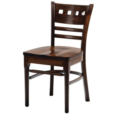 Baltimore Solid Seat Square Hole Side Chair