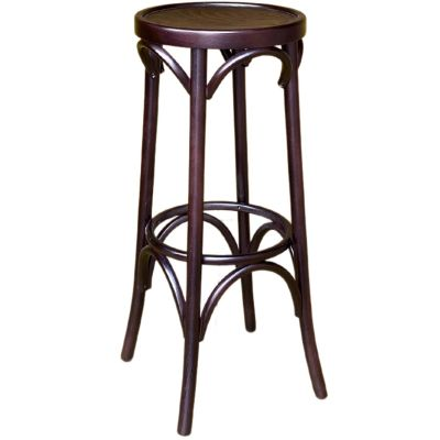 Bentwood Solid Seat High Stool