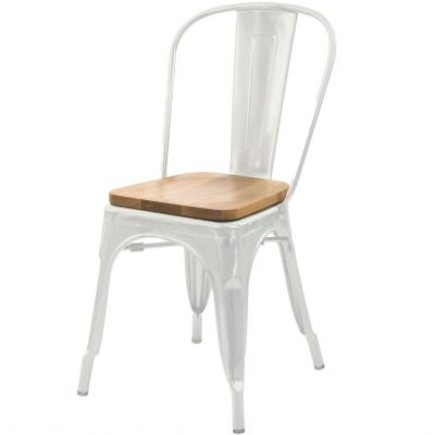 Bistro Wooden Seat Side Chair