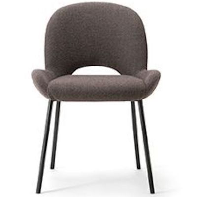 Bliss Four Metal Leg Side Chair (Black Leg)