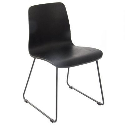 Copenhagen Skid Base Side Chair (Black)