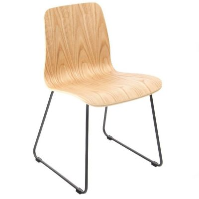 Copenhagen Skid Base Side Chair (Clear Lacquer)