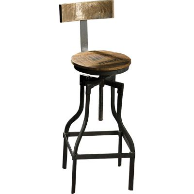 Crank High Stool with Back