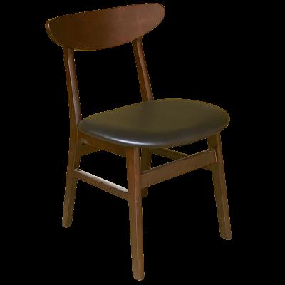 Crescent UPH Seat Side Chair (Black Vena / Walnut)