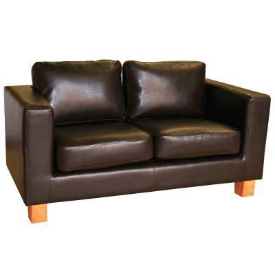 Diego Three Seater Sofa (Brown Faux)