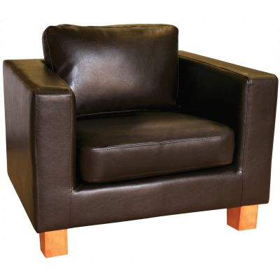Diego Armchair (Brown Faux)