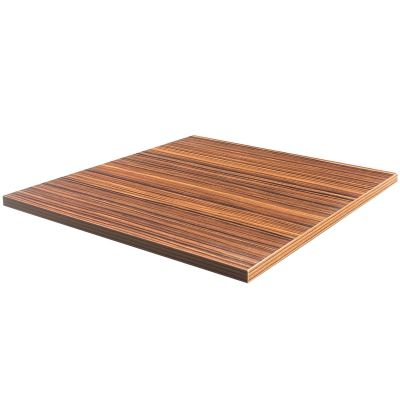 Double Sided Laminate Square Table Top 25mm - 680mm x 680mm (Zebrano)