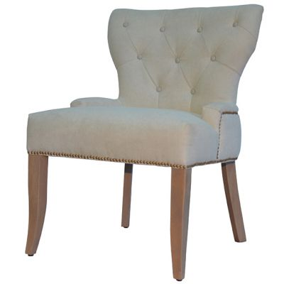 Dove Float Button Back Side Chair
