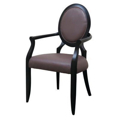 Flower Open Arm Carver Chair