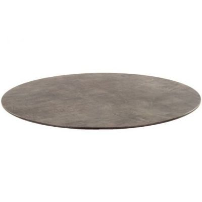 Compact Laminate Round Table Top - 700mm Diameter (Cement)