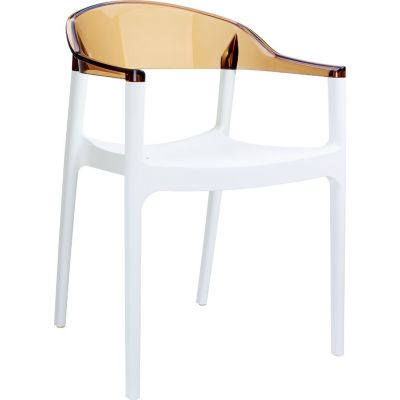 Carmen Armchair (White / Amber)