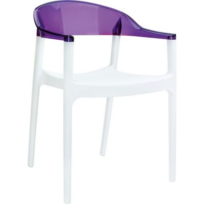 Carmen Armchair (White /Violet)