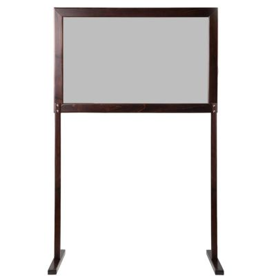 Portable Refectory Social Screen (Walnut / Frosted Screen)