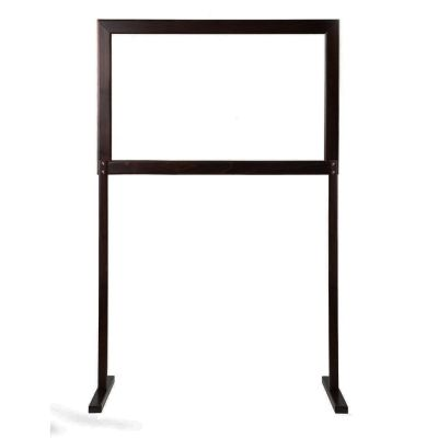 Portable Refectory Social Screen 940 (Wenge / Clear Screen)
