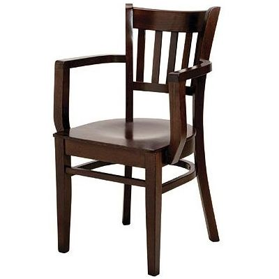 Holt Solid Seat Open Arm Carver Chair