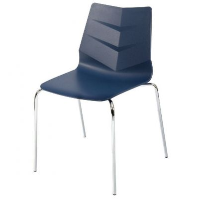Leaf Four Metal Leg Stacking Side Chair