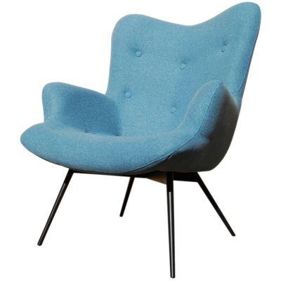 Malmo Button Back Metal Leg Lounge Chair