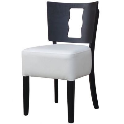 Memphis Solid Back Keyhole Side Chair