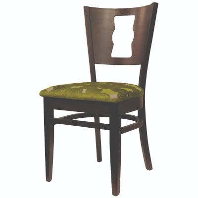 Memphis Solid Back Keyhole Stacking Side Chair