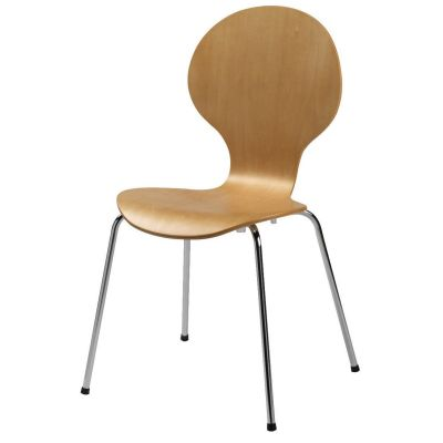 Mile Four Metal Leg Stacking Side Chair