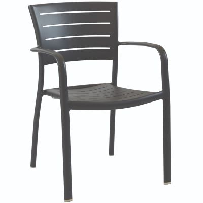 Montpellier Arm Chair (Dark Grey)