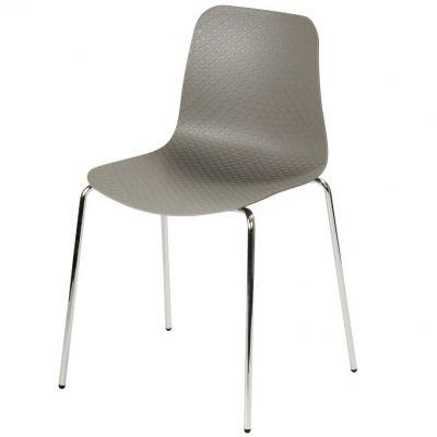 Net Four Metal Leg Stackable Side Chair