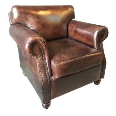 Nevada Industrial Armchair (Brown)
