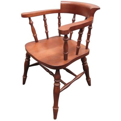 Smoker Bow Open Arm Carver Chair