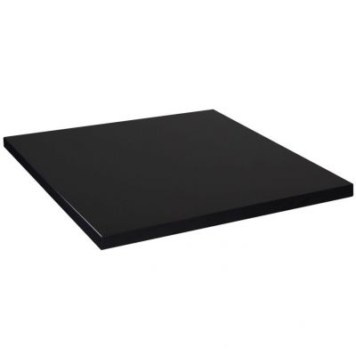 Mono Laminate Square Table Top - 700mm x 700mm (Black)