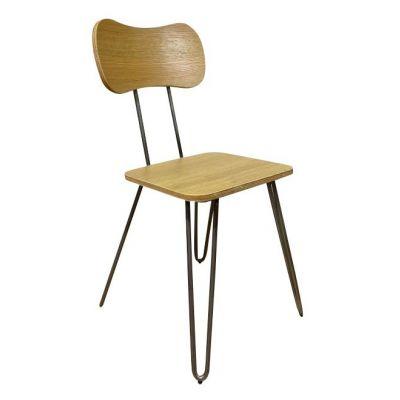 Hairpin Magnum Side Chair (Light Beech)