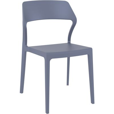 Snow Side Chair (Dark Grey)