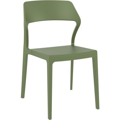 Snow Side Chair (Olive Green)