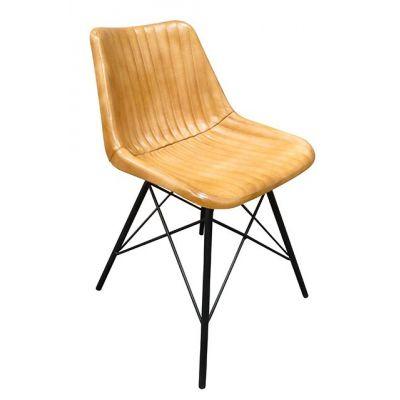 Patriot Rib Four Leg Side Chair (Light Brown)