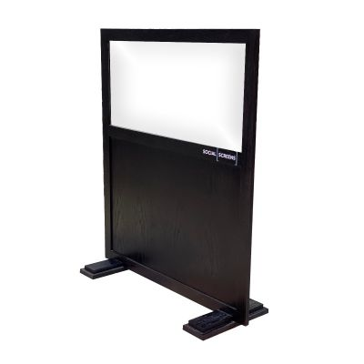 Portable Solid Base Social Screen (Black)